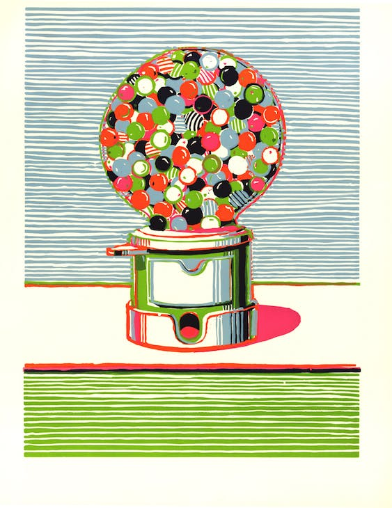 Gumball Machine (1970), Wayne Thiebaud. © Wayne Thiebaud/DACS, London/VAGA, New York 2016