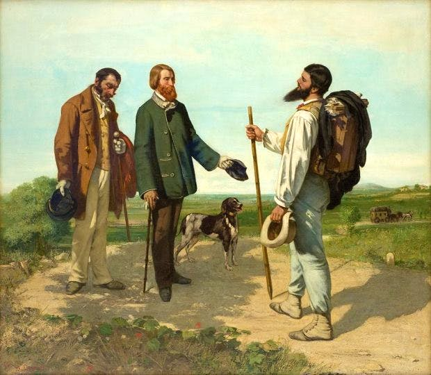 The Meeting, 1854, Gustave Courbet, Musée Fabre