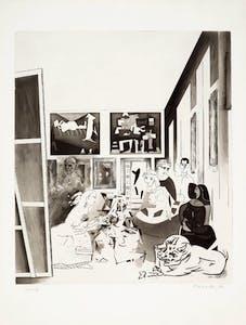 Picasso's meninas: three impressions (1973), Richard Hamilton. Estimate: $40,000–60,000