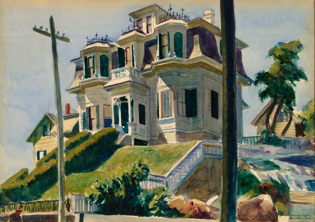Haskell's House (1924), Edward Hopper. National Gallery of Art, Gift of Herbert A. Goldstone, 1996.