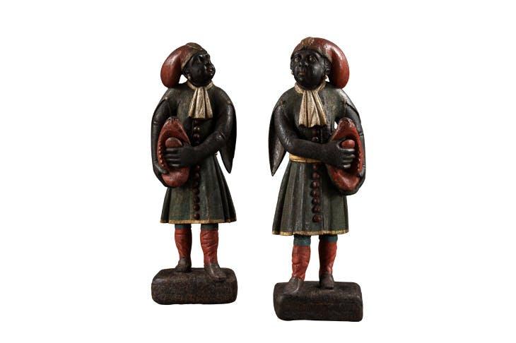 A pair of blackamoor figures (c. 1740), Dutch. Carcaci, £28,000