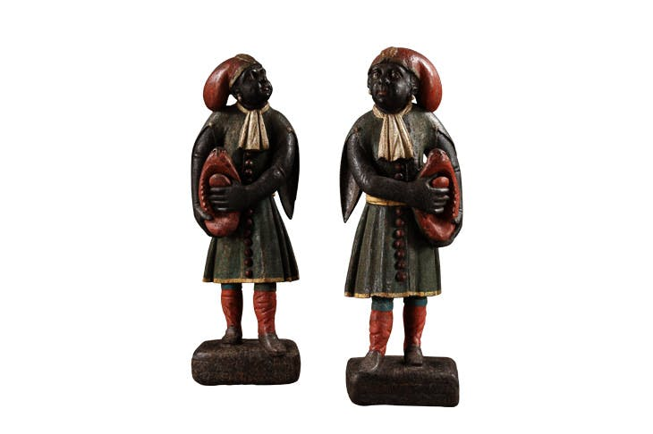A pair of blackamoor figures (c. 1740), Dutch. Carcaci, £28,000
