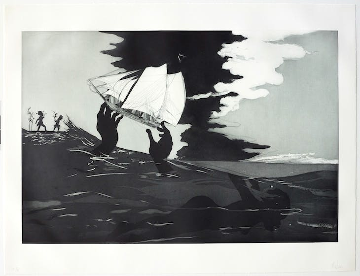 no world from An Unpeopled Land in Uncharted Waters (2010), Kara Walker. © Kara Walker. Reproduced by permission of the artist