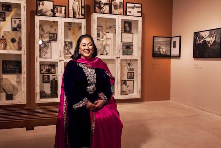 Kiran Nadar photographed in her museum