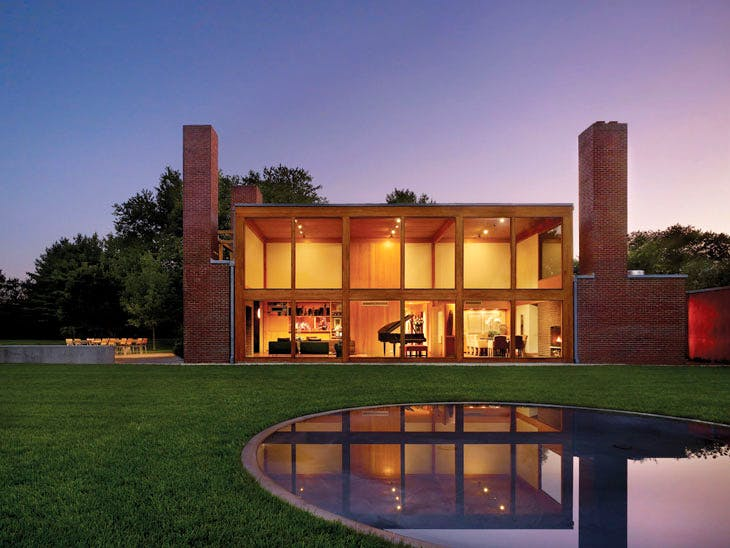 Steven and Toby Korman House, Fort Washington, Pennsylvania, Louis Kahn, 1971–73. © Barry Halkin