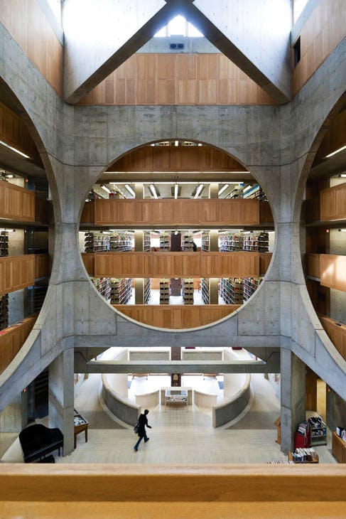 Library, Phillips Exeter Academy, Exeter, New Hampshire, Louis Kahn, 1965–72. © Iwan Baan