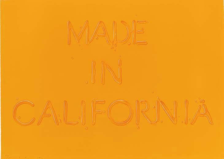 Made in California (1971), Ed Ruscha. © Ed Ruscha. Reproduced by permission of the artist.