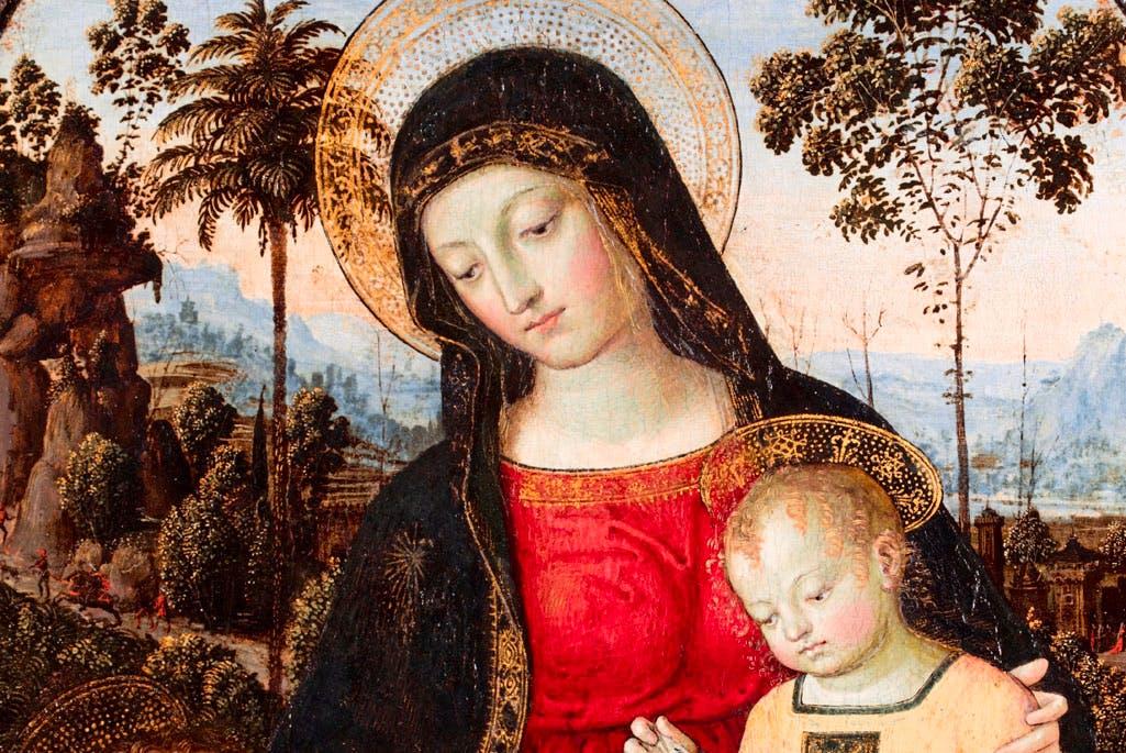 Virgin and Child with St John the Baptist (c. 1490–95), Pinturicchio (Bernardino di Betto). © Fitzwilliam Museum, Cambridge