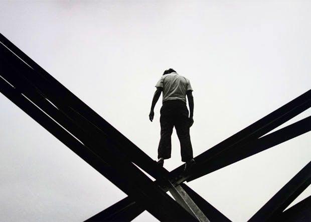 Mexico City suicide attempt (25 May, 1971), Enrique Metinides. Michael Hoppen Gallery, London