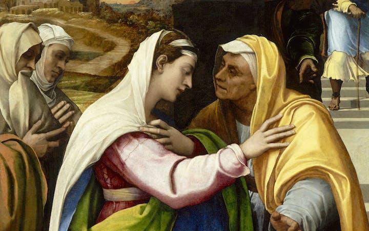 The Visitation (detail; 1518–19), Sebastiano del Piombo. © RMN-Grand Palais (musée du Louvre) / Hervé Lewandowski