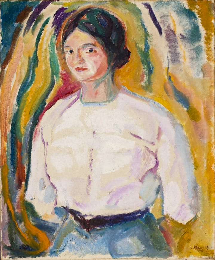 Ingeborg with Her Arms behind Her Back (1913), Edvard Munch. Munch-museet, Oslo