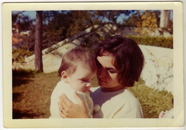 Paula Rego in Estoril, Portugal, with her son Nick Willing, in 1961. Photo: José Figueiroa Rego