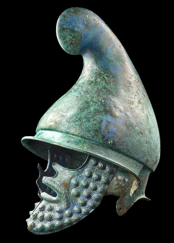 4th century BC Phrygian helmet. Sold at Merrin Gallery