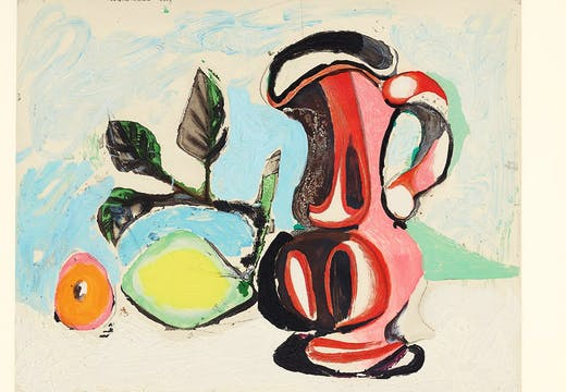 Nature morte au citron et pichet rouge (Still Life with Lemon and Red Pitcher) (1964), after Pablo Picasso. Estimate: $6,000–8,000