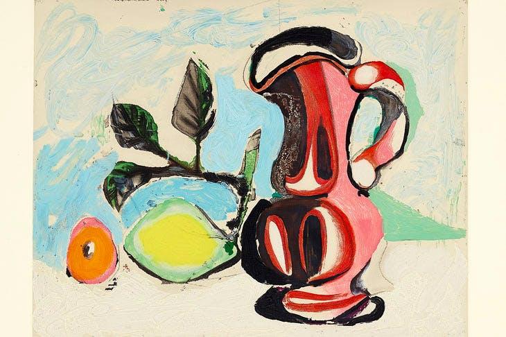Nature morte au citron et pichet rouge (Still Life with Lemon and Red Pitcher) (1964), after Pablo Picasso. Estimate: $6,000–8,000