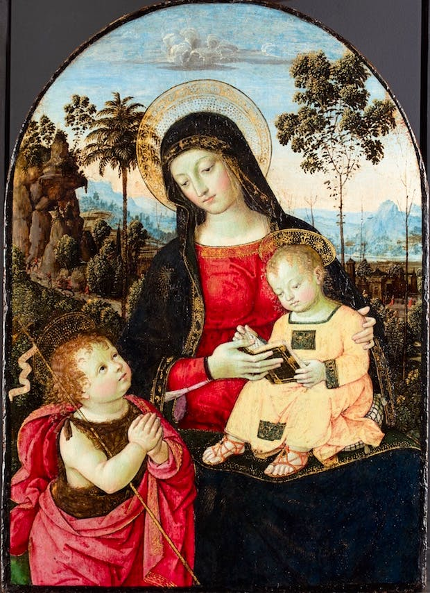 Virgin and Child with St John the Baptist (c. 1490–95), Pinturicchio (Bernardino di Betto). © Fitzwilliam Museum, Cambridge