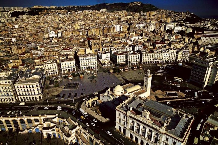 Place des Martyrs in Algiers, where archaeologists have discovered 'spectacular' ruins dating back to the Roman occupation.