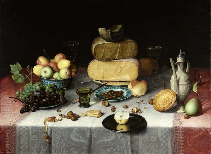 Still Life with Cheese (c. 1615), Floris van Dijck