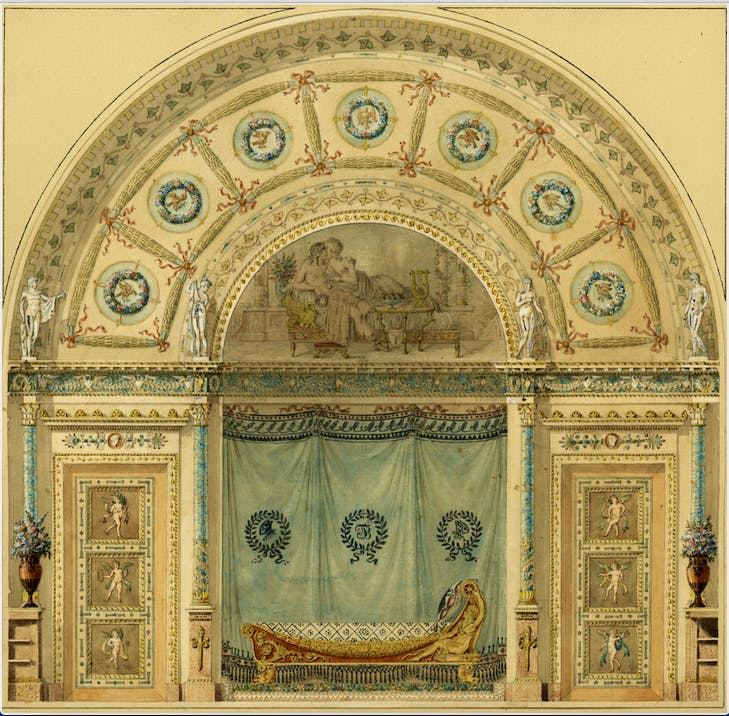 Design for a Bedroom for Josephine, c. 1802, Charles Percier, private collection
