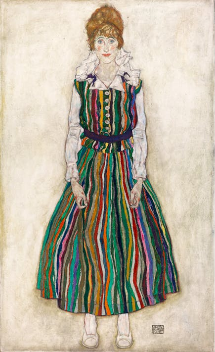 Portrait of Edith (The Artist's Wife) , 1915, Egon Schiele. Gemeentemuseum Den Haag