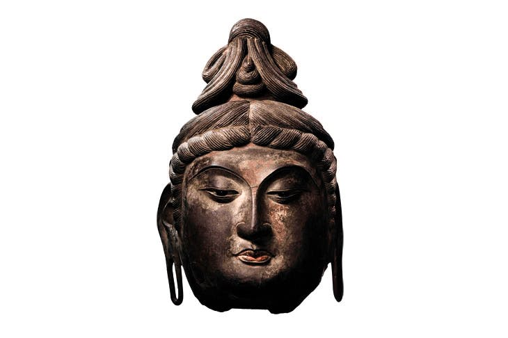 Head of Avalokiteshvara, Tang dynasty (618–906), dry lacquer, ht 67.8cm. Sotheby's Hong Kong, estimate: HK$18m–HK$25m