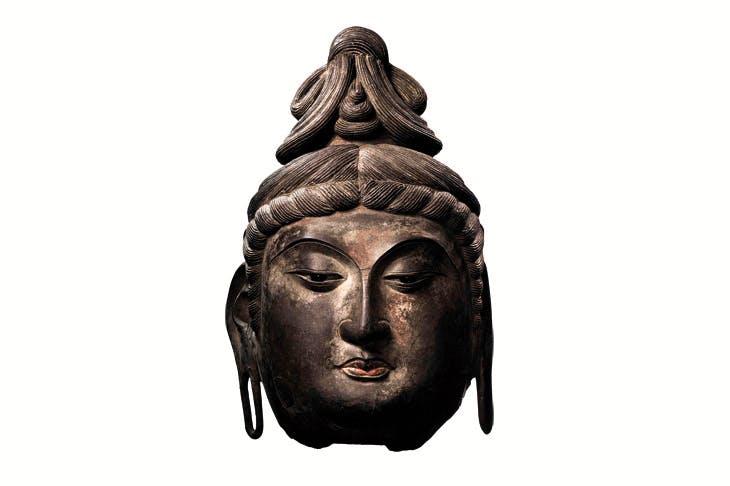 Head of Avalokiteshvara, Tang dynasty (618–906), dry lacquer, ht 67.8cm. Sotheby's Hong Kong, estimate: HK$18m–HK$25m