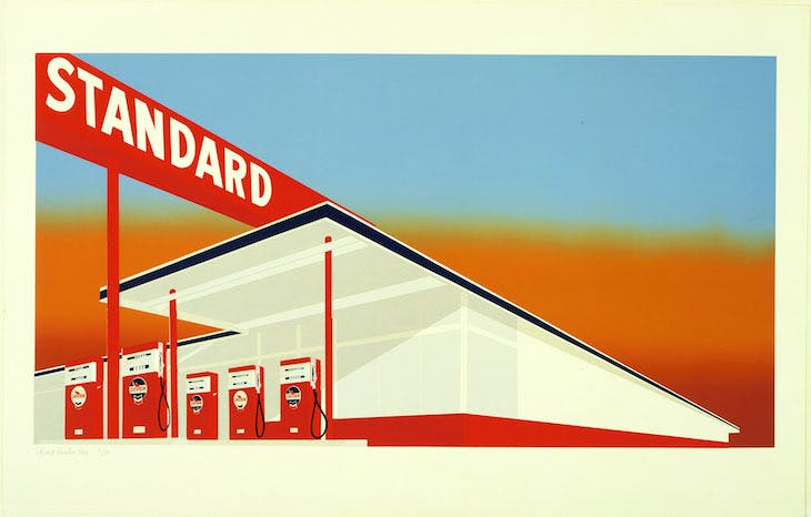 Standard Station (1966), Ed Ruscha. The Museum of Modern Art, New York/Scala, Florence. © Ed Ruscha. Reproduced by permission of the artist.