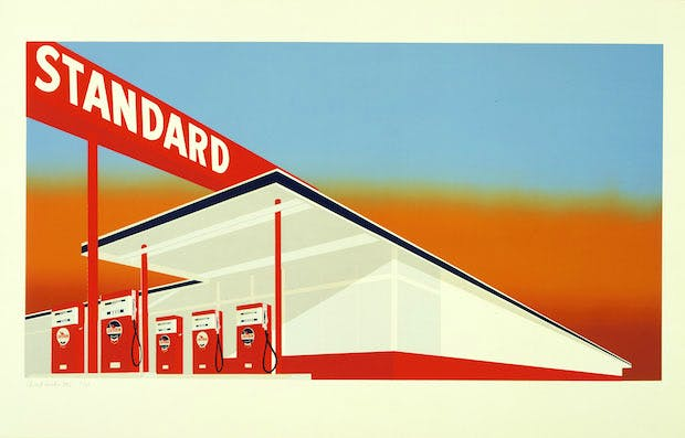 Standard Station (1966), Edward Ruscha. The Museum of Modern Art, New York/Scala, Florence. © Ed Ruscha. Reproduced by permission of the artist