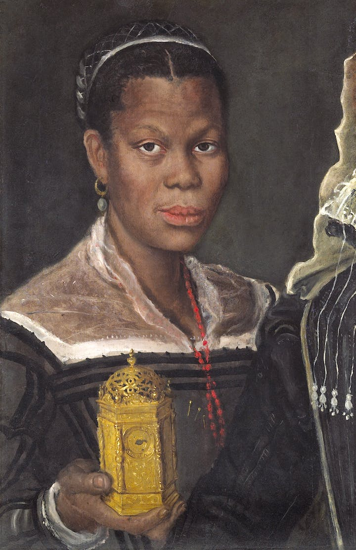 Portrait of an African woman holding a clock (c. 1585), Annibale Carracci. Tomasso Brothers, around £1m