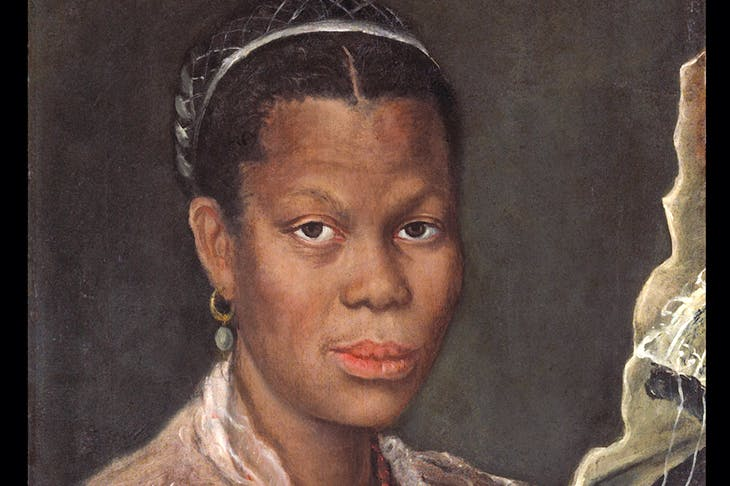 Portrait of an African woman holding a clock (detail) (c. 1585), Annibale Carracci. Tomasso Brothers, around £1m