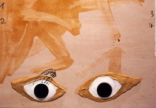 Capgirat, (detail) 2005, Antoni Tàpies, © Comissió Tàpies/VEGAP Courtesy Timothy Taylor