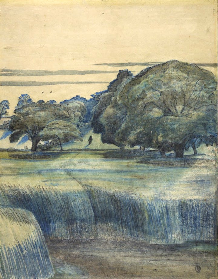 The Wanderer also known as Path through Trees (1911), Paul Nash. © The Trustees of the British Museum