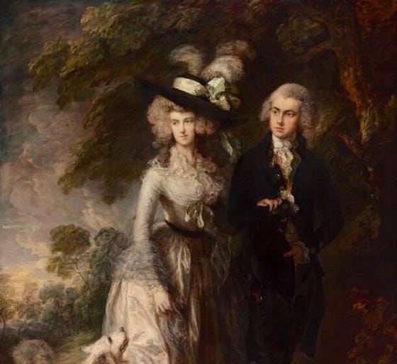 Mr and Mrs William Hallett ('The Morning Walk') (detail; 1785), Thomas Gainsborough.