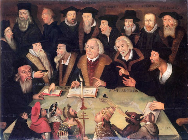 Martin Luther in the circle of Reformers (1625–1650), German School. © Deutsches Historisches Museum