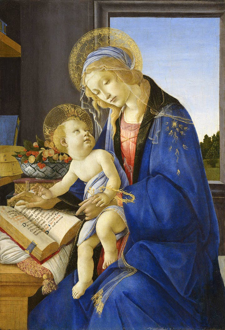Madonna of the Book (c. 1479), Sandro Botticelli. Museo Poldi Pezzoli; courtesy Museum of Fine Arts, Boston