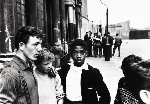 Men and boys in Southam Street, London (1959), Roger Mayne. Courtesy of the Mary Evans Picture Library; © Roger Mayne/Mary Evans Picture Library