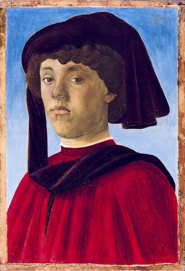 Portrait of a Youth (1470s), Sandro Botticelli. Palazzo Pitti; courtesy Museum of Fine Arts, Boston