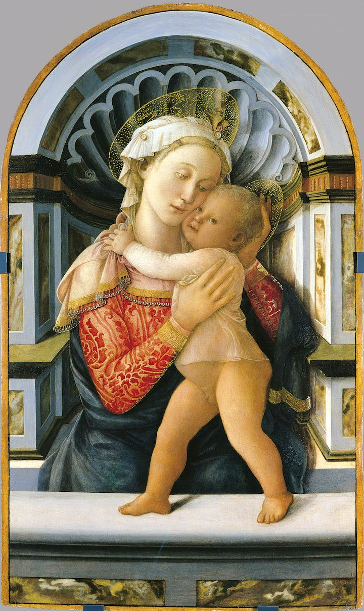 Madonna and Child (about 1466–69), Fra Filippo di Tomaso Lippi. Palazzo Medici Riccardi; courtesy Museum of Fine Arts, Boston