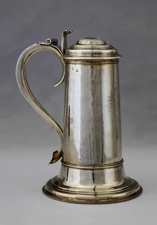 Communion flagon (1705/6), John Jackson I and John Fawdery I. Ickworth House, Suffolk. Photo: © National Trust Images/Robert Thrift