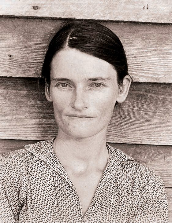 Allie Mae Burroughs, Wife of a Cotton Sharecropper, Hale Country, Alabama (1936), Walker Evans. © Walker Evans Archive, The Metropolitan Museum of Art; Photo: © Collection particulière