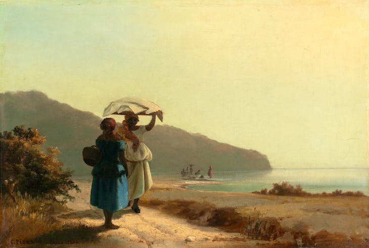 Deux femmes causant au bord de la mer (1856), Camille Pissarro. National Gallery of Art, Washington, D.C.