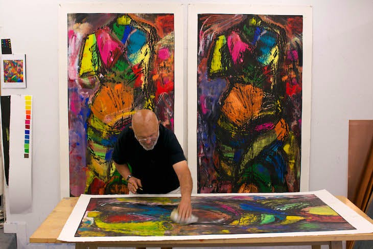 Jim Dine photographed in his studio in Walla Walla, Washington, USA, in July 2014. Photo: Jason Teffry