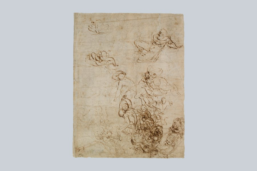Sheet with inventive ideas (c. 1511–14), Raphael