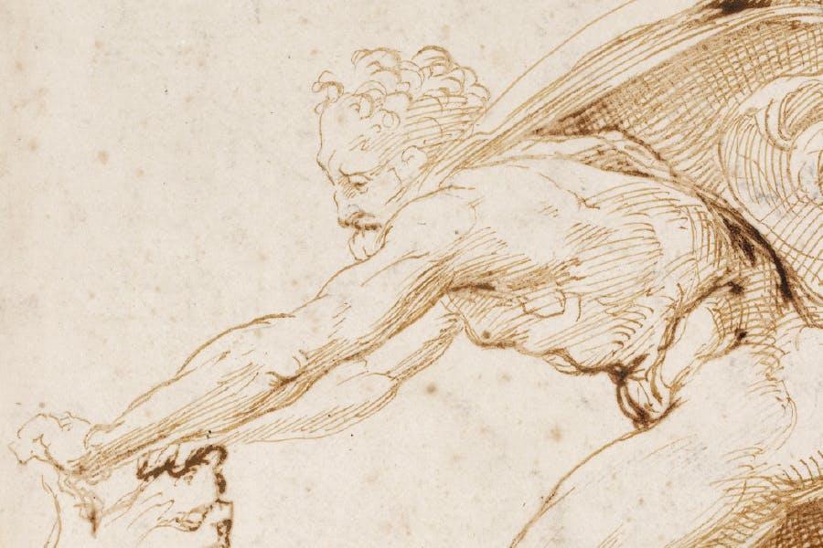 Hercules overpowering the Nemean lion (detail; c. 1507–08), Raphael