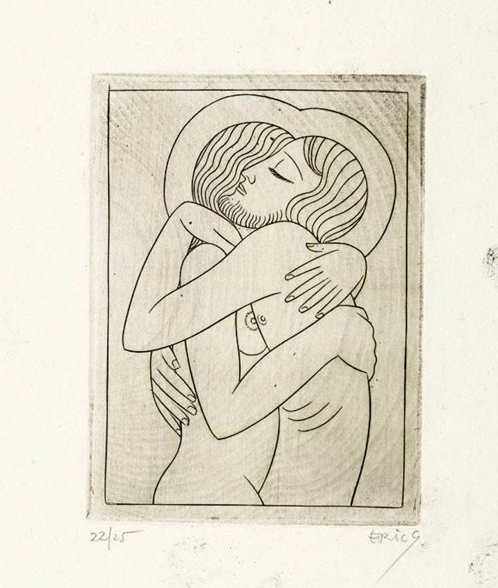Divine Lovers (1926), Eric Gill. Courtesy of Harvard Art Museums