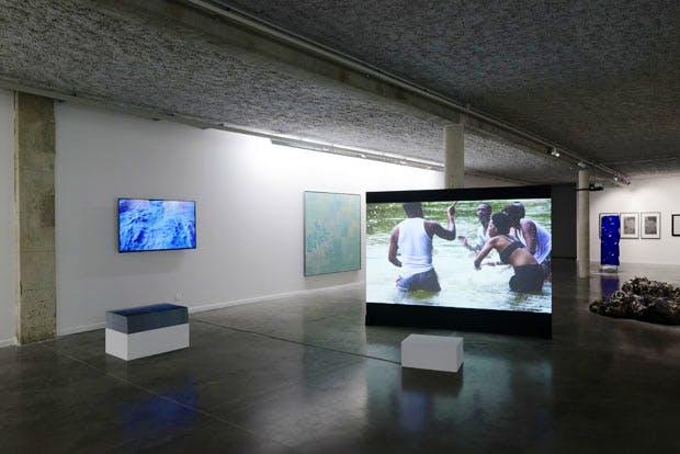 'La vie aquatique', installation view at Mrac Occitanie/ Pyrénées-Méditerranée, Sérignan, 2017. Photograph: Aurélien Mole