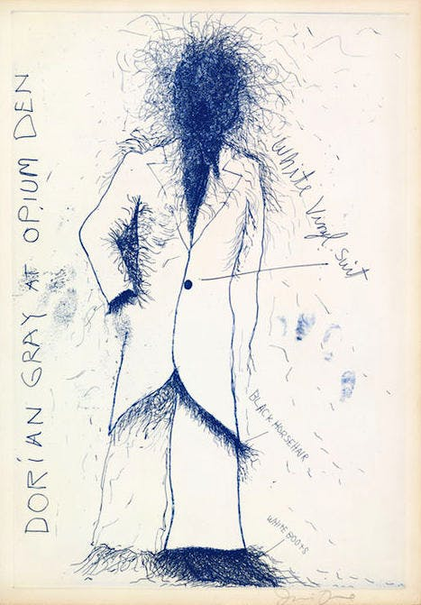 Dorian Gray at the Opium Den from The Picture of Dorian Gray (1968), Jim Dine. British Museum, London. Reproduced by permission of the artist