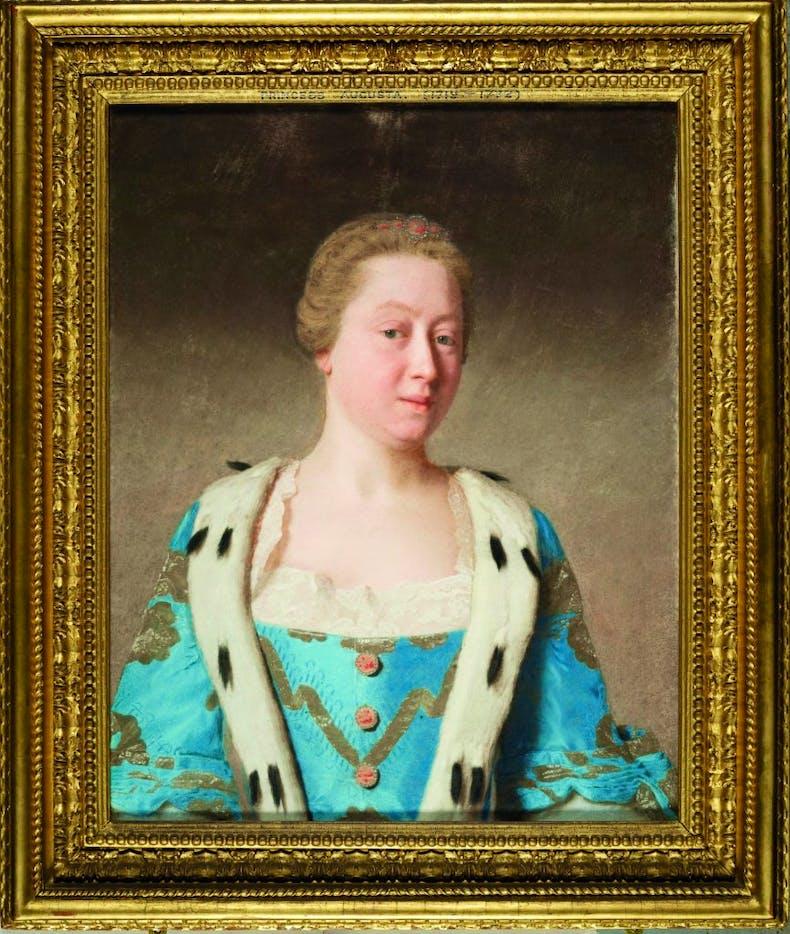 Augusta, Princess of Wales, 1754, Jean-Étienne Liotard.