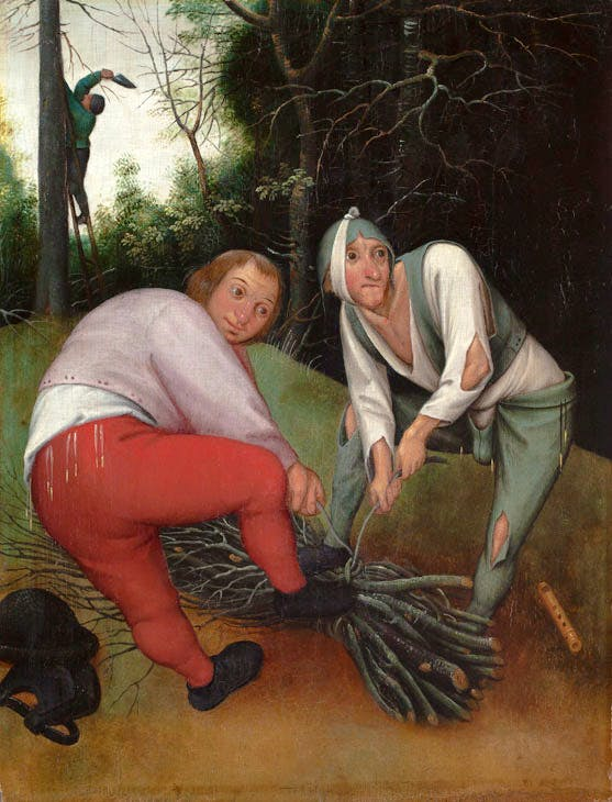Two Peasants Binding Faggots (c. 1620–50), Pieter Brueghel the Younger. Barber Institute of Fine Arts, University of Birmingham