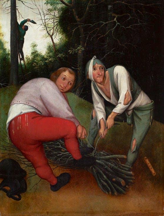 Two Peasants Binding Faggots (c. 1620–50), Pieter Brueghel the Younger. Barber Institute of Fine Arts, University of Birmingham